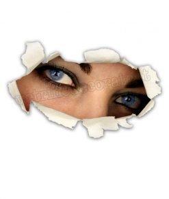 adesivo volto femminile che osserva