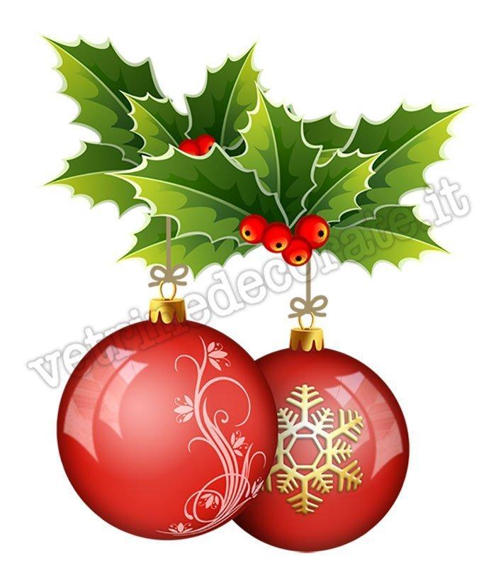 Immagini Palle Di Natale.071 Palle Di Natale Colorate Con Agrifoglio