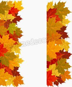 Modulo decorativo con foglie autunnali