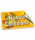 etichetta con scritta nuova collezione