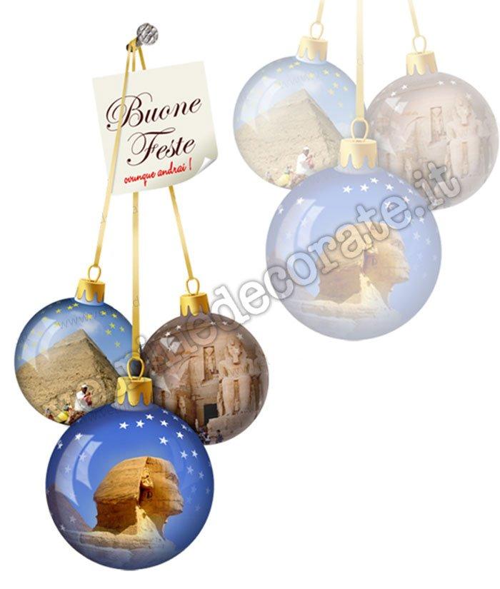 Siti Di Natale.647 Palle Di Natale Con Immagini Di Siti Egiziani