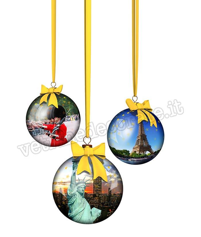 Foto Di Palle Di Natale.649 Palle Di Natale Con Immagini Di Citta Famose