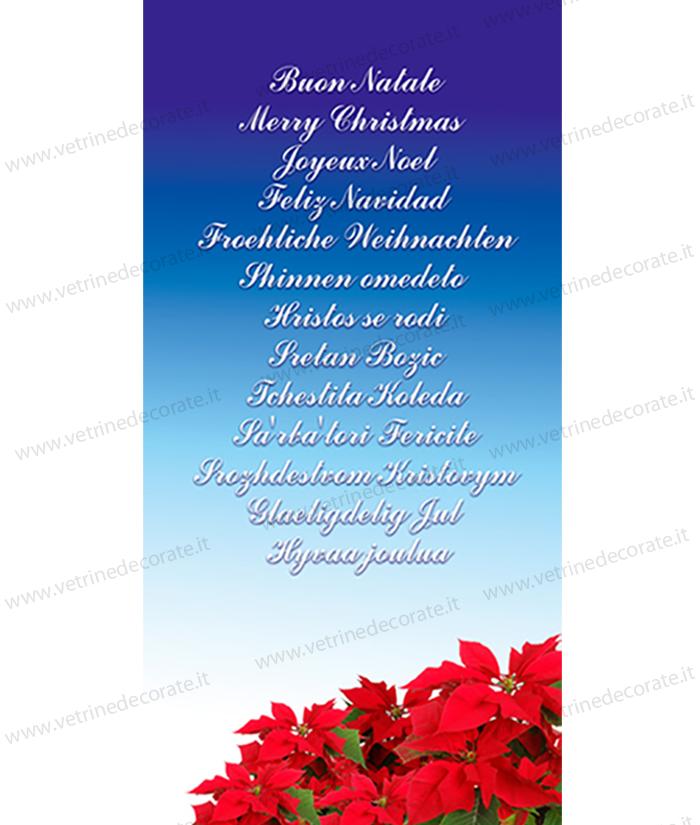 Immagini Con Scritte Di Buon Natale.156 Telo Pvc Con Stelle Di Natale E Scritte Augurali