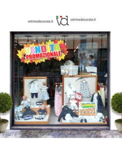 vetrina-con-scritta vendita promozionale su foglie autunnali