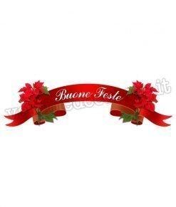 adesivo nastro-rosso-natalizio-con-scritta-buone-feste-e-agrifoglio