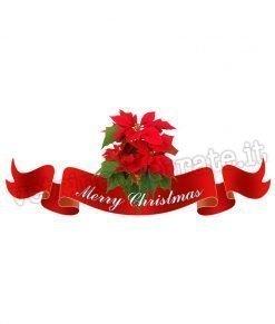 vetrofania con-stelle-di-natale-e-nastro-con-scritta-merry-christmas
