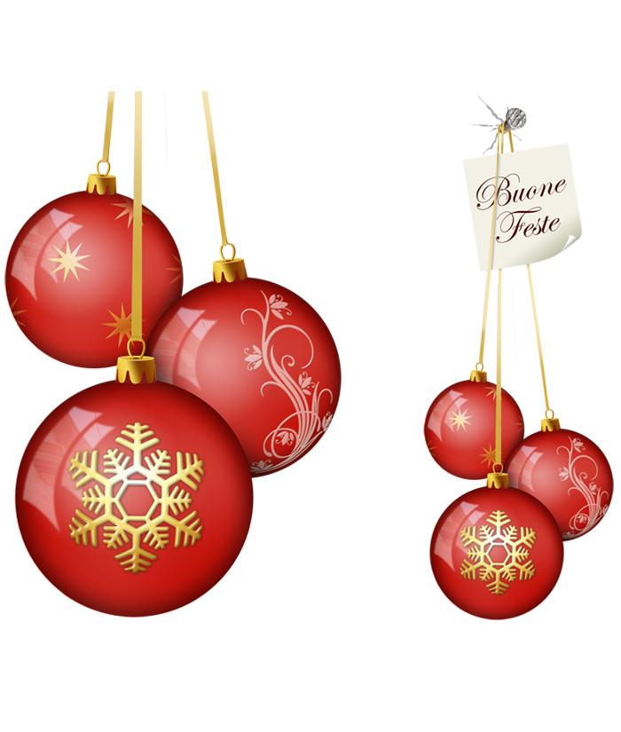 Tre palle di natale rosse decorate for Immagini natale stilizzate