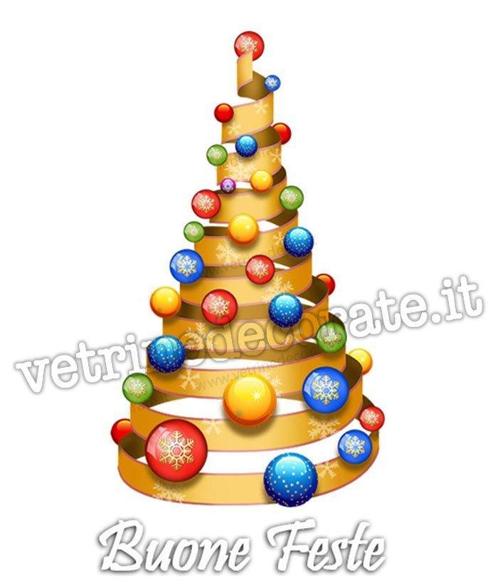 Immagini Di Natale Colorate.438 Albero Di Natale A Spirale Con Palle Colorate