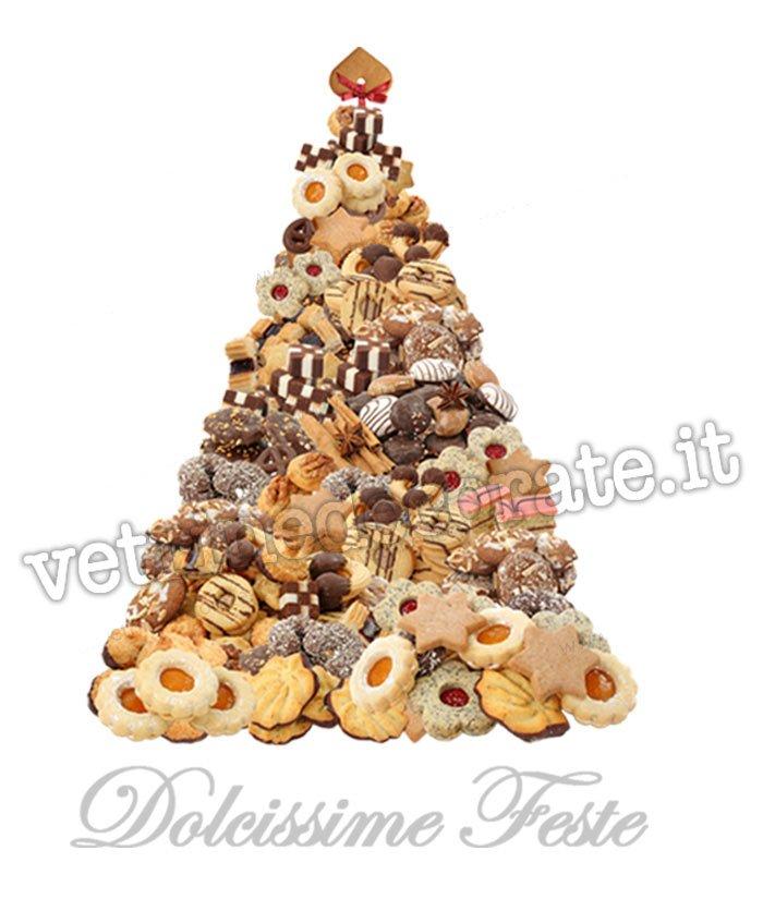Biscotti Finti Per Albero Di Natale.Albero Di Natale Con Biscotti E Pasticcini In Adesivo E Vetrofania