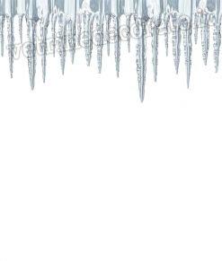 vetrofania con stalattiti di ghiaccio
