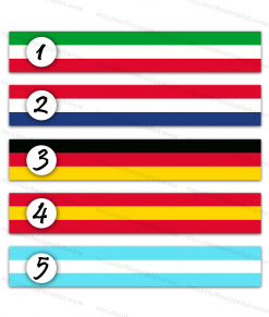 Ribbons with colors of various nationalities