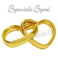 vetrofania due anelli sposi