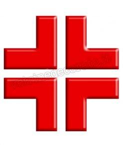 vetrofania croce rossa 3D