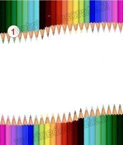 vetrofania decorazione con matite colorate
