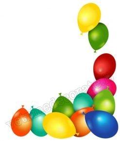 vetrofania palloncini colorati