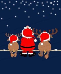 babbo-natale-con-due-renne-sotto-una-nevicata