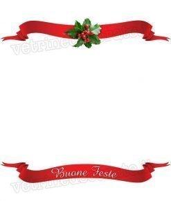 vetrofania decorazione natalizia rossa