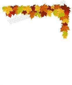 vetrofania decorazione angolare foglie autunno