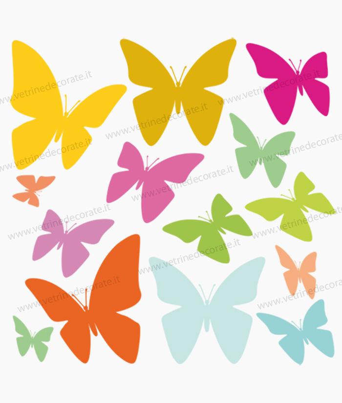 Farfalle colorate varie dimensioni e colori - Immagini di farfalle a colori ...
