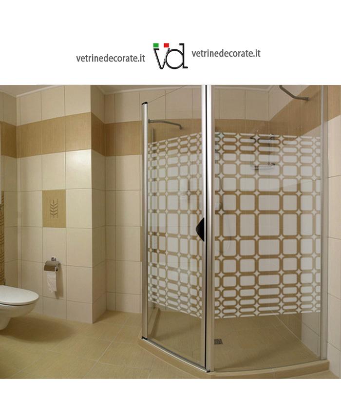 Decorazione sabbiata per box doccia for Adesivi per box doccia