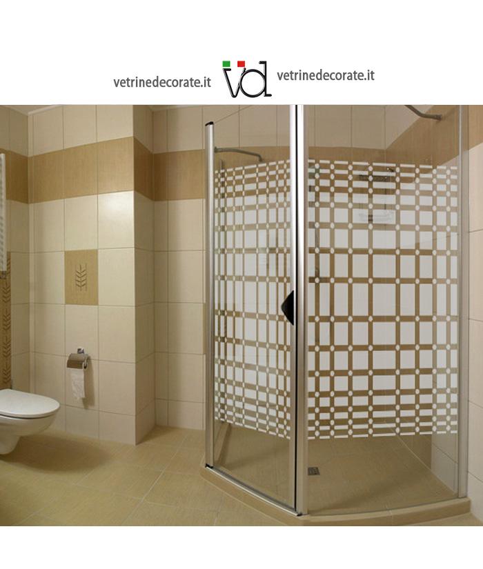 Quadri sabbiati e cerchi per box doccia for Adesivi per piastrelle doccia