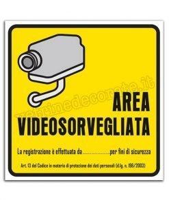 vetrofania area videosorvegliata