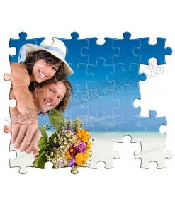 vetrofania puzzle sposi bouquet