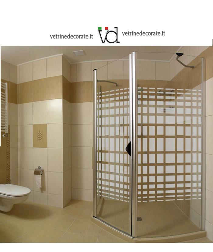 Box doccia con rettangoli in vinile sabbiato adesivi e for Adesivi per box doccia