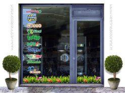 vetrina con loghi di marchi a premi