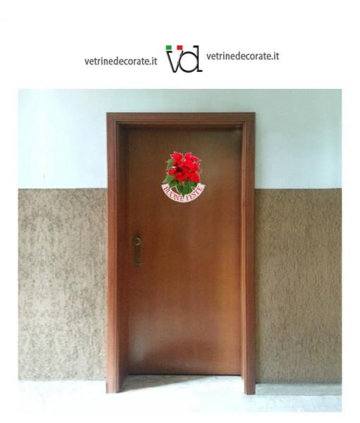 Decorazione natale rimovibile per la porta for Decorazione natalizia per porta