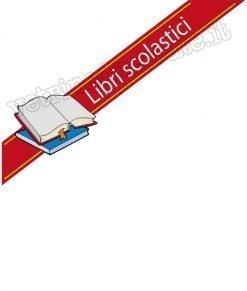 adesivo con fascia rossa e scritta libri scolastici