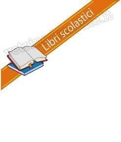 vetrofania con fascia arancio e scritta libri scolastici