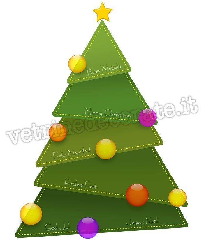 Alberi Di Natale Stilizzati Immagini.Albero Di Natale Stilizzato Di Colore Verde Con Varie Palle Colorate