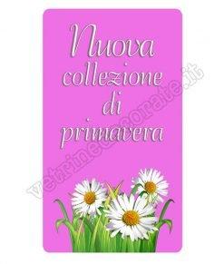 vetrofania scritta nuova collezione primavera