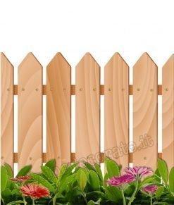 vetrofania staccionata legno con gerbere