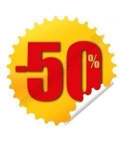 adesivo bollino sconto -50%