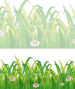 vetrofania modulo erba con margherita