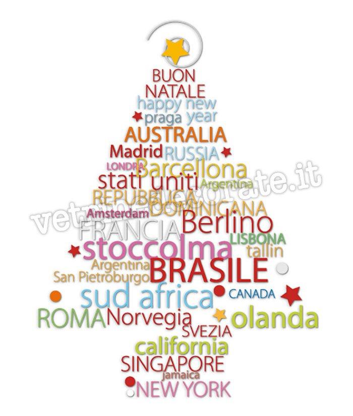 Albero di natale con nomi di citt e nazioni for Obi albero di natale