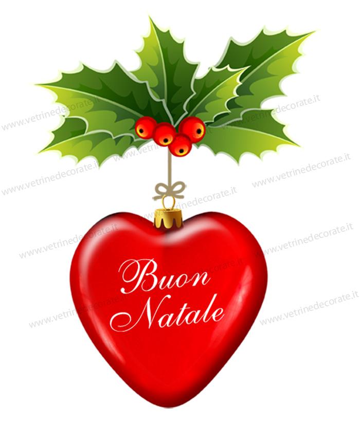 Cuore rosso natalizio con agrifoglio - Agrifoglio immagini a colori ...