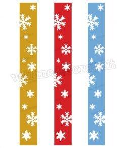 vetrofania decorazione natalizia a fasce