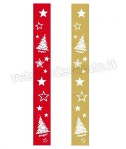 vetrofania fasce decorative natalizie