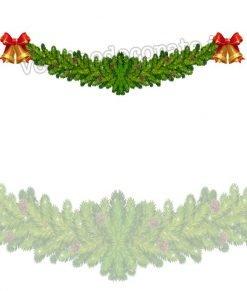 vetrofania festone natalizio con campane