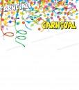 coriandoli colorati con scritta carnevale