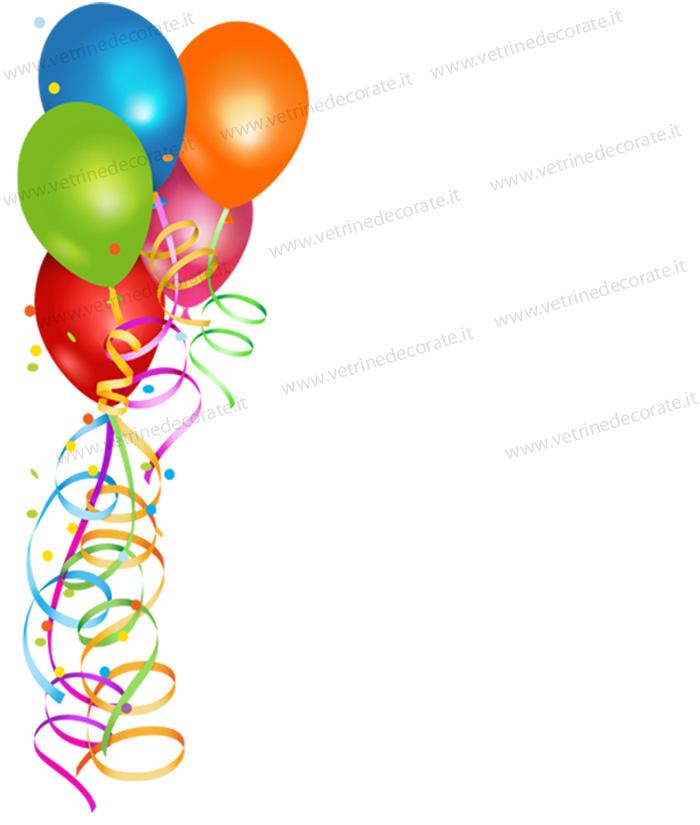 Palloncini Colorati Con Coriandoli Adesivi E Vetrofanie