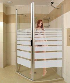 decorazione sabbiata per box doccia