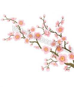 adesivo ramo con fiori rosa