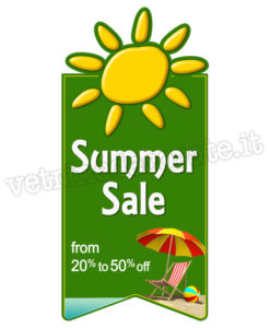 Summer Sale with customisable discount range banner