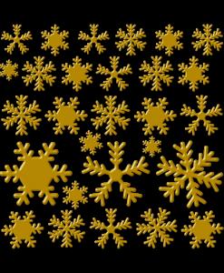 cristalli di neve colore similoro