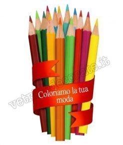 adesivo con matite con nastro e scritta