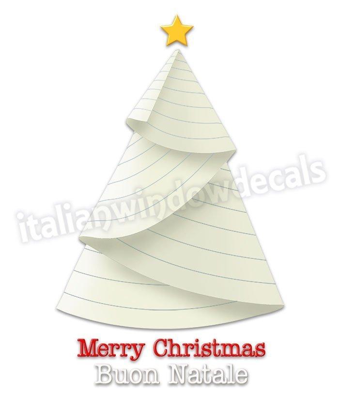 Alberi Di Natale Di Carta.483 Albero Di Natale Con Foglio Di Quaderno